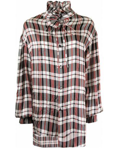 Шелковая блузка - красная Balenciaga
