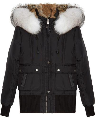 Черная утепленная куртка на молнии Nicole Benisti