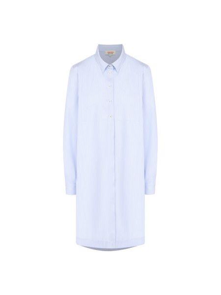 Синее тонкое платье из поплина Paul&joe