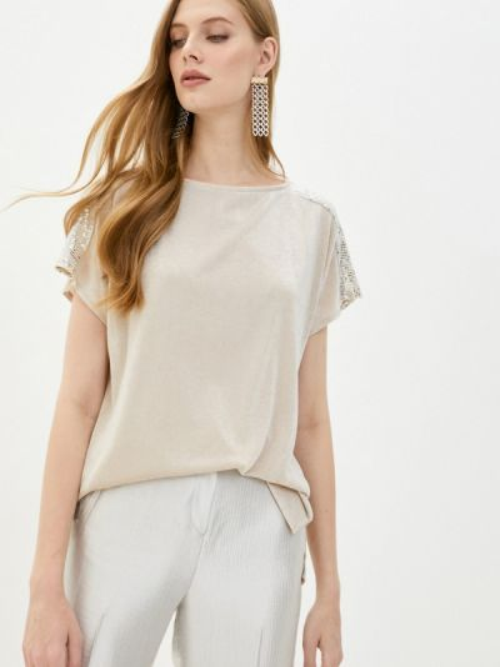 С рукавами бежевая блузка Wallis