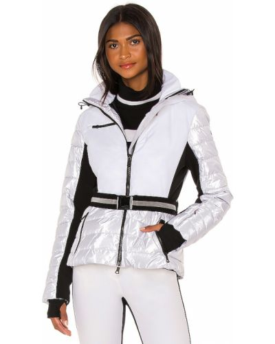 Biała kurtka z kapturem z nylonu Erin Snow