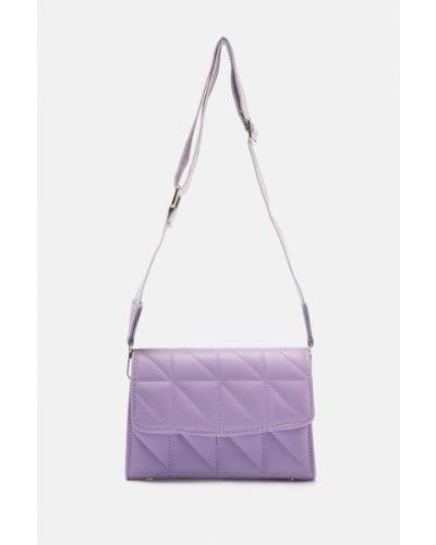 Liliowa torebka materiałowa Trendyol