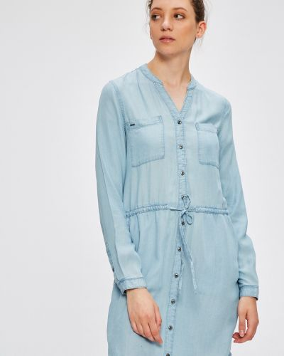 Платье мини с карманами однотонное Only