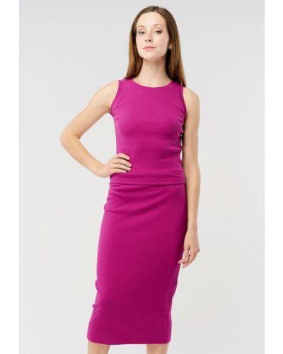 Фиолетовый вязаный юбочный костюм Mascot