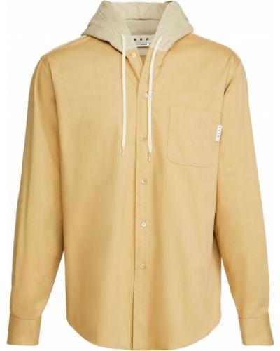 Рубашка с длинными рукавами вельветовая с капюшоном Marni