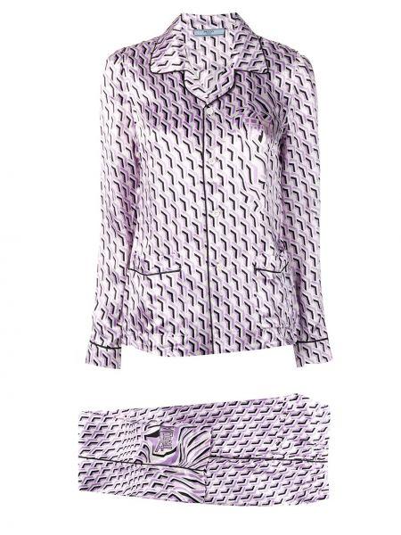 Spodni piżama długo z klapą Prada