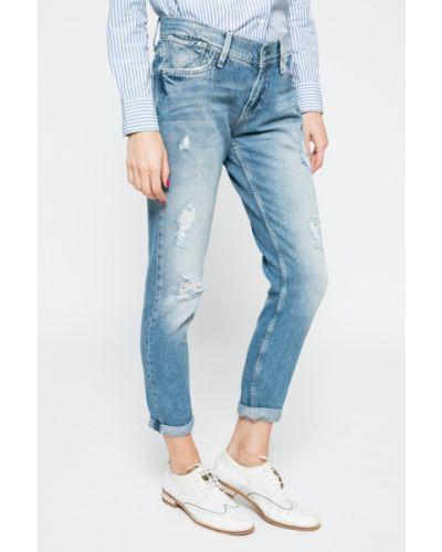 Синие джинсы бойфренды Pepe Jeans