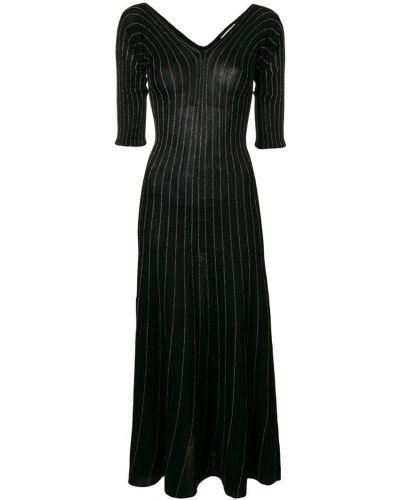 Трикотажное платье макси - черное Sonia Rykiel