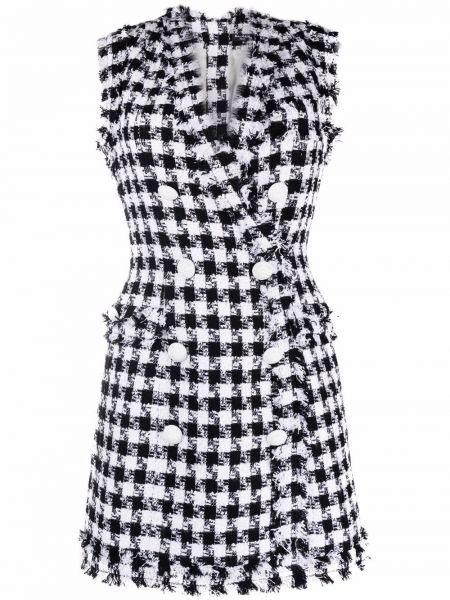 Хлопковое платье мини - белое Balmain