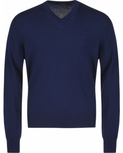 Шерстяной пуловер - синий Billionaire