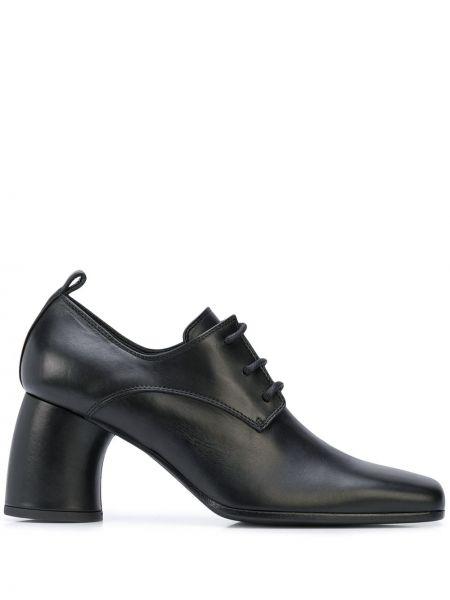 Туфли на каблуке черные кожаные Ann Demeulemeester