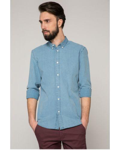 Рубашка в полоску хлопковая Selected