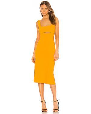 Оранжевое платье миди на молнии с подкладкой Finders Keepers
