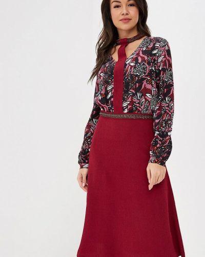 Платье бордовый красный Ksenia Knyazeva