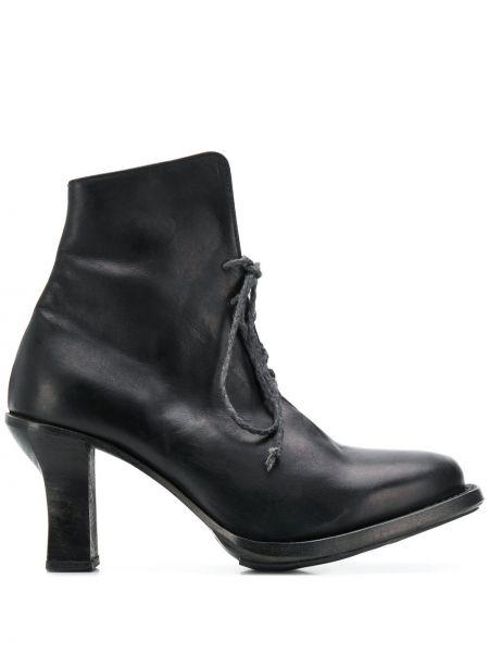 Черные сапоги на высоком каблуке на каблуке на шнуровке Cherevichkiotvichki