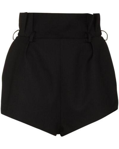 Черные шерстяные шорты Alexandre Vauthier