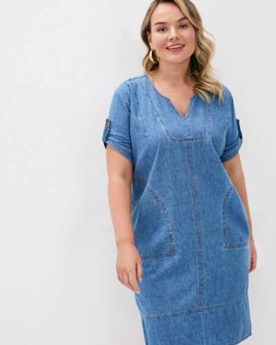 Джинсовое платье - синее Intikoma