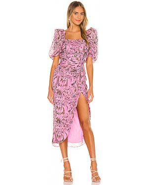 Платье миди шифоновое шелковое Aiifos