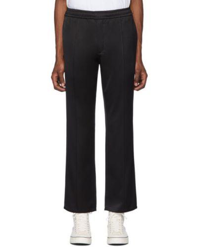 С кулиской черные спортивные брюки с карманами из вискозы Second/layer