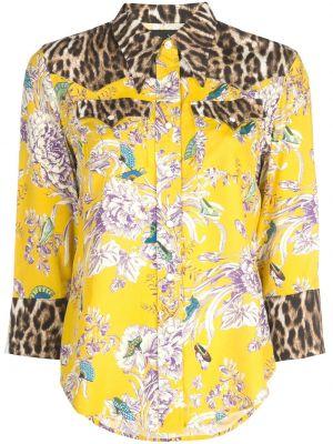 Рубашка с принтом с карманами R13