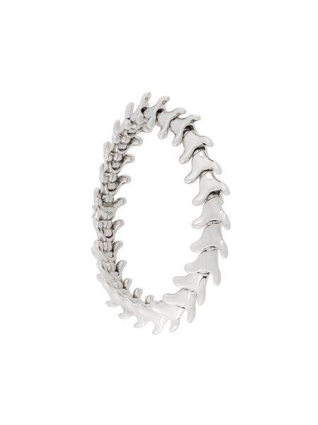 Szeroki bransoletka pozłacana srebrna elegancka Shaun Leane