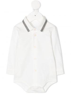 Polo bawełniana - biała Il Gufo