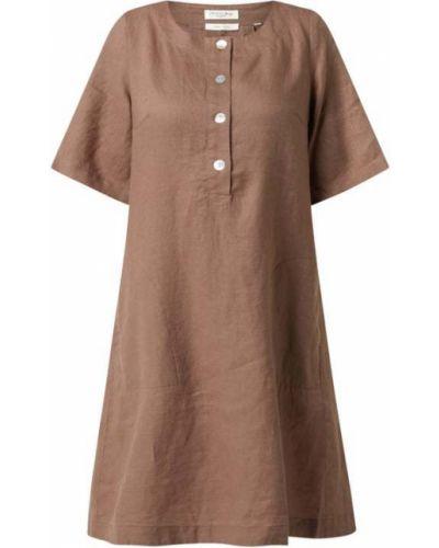 Beżowa sukienka krótki rękaw Christian Berg Women