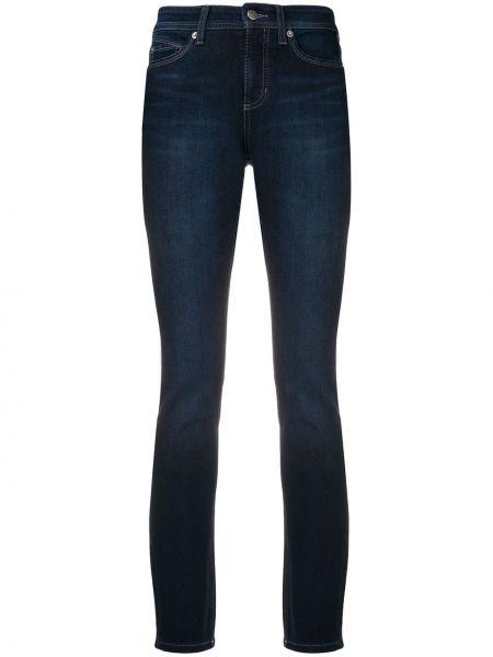 Синие зауженные джинсы-скинни с карманами Cambio