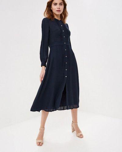 Платье платье-рубашка синее Karen Millen