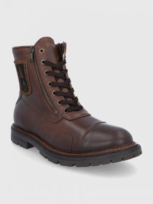 Кожаные ботинки Aeronautica Militare