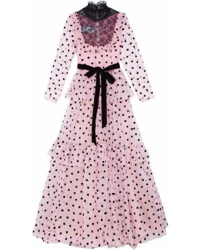 Вечернее платье розовое с поясом Valentino