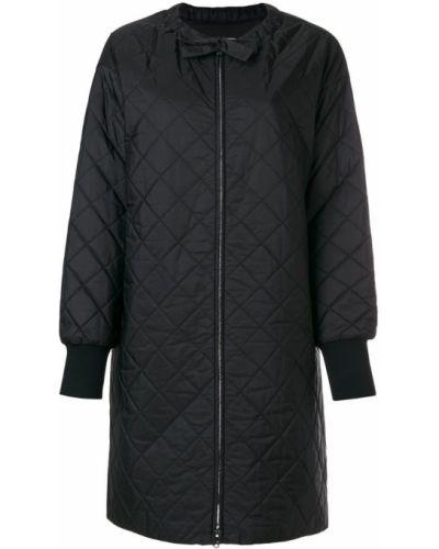 Стеганое пальто пуховое шелковое Prada