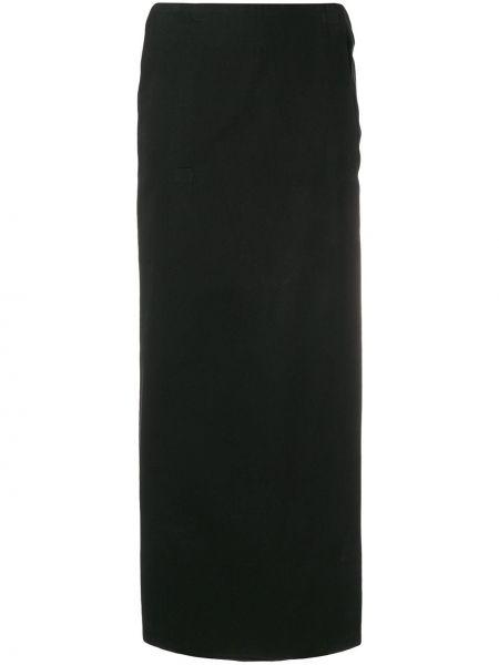 Черная ажурная юбка макси винтажная Stephen Sprouse Pre-owned