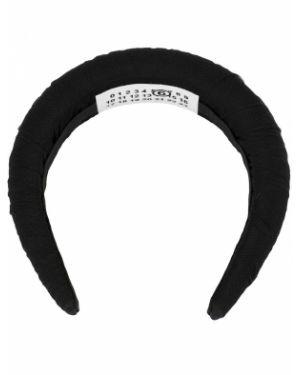 Opaska na głowę czarny na głowie Mm6 Maison Margiela