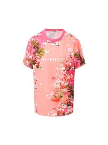 Футболка оверсайз с цветочным принтом Givenchy