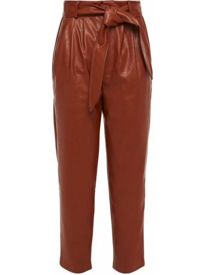 Brązowe spodnie z paskiem Antik Batik