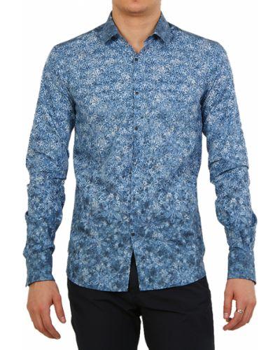 Голубая рубашка хлопковая Lagerfeld
