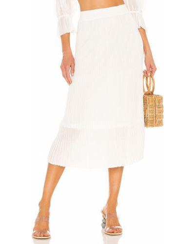 Свободная белая юбка макси на резинке John & Jenn By Line