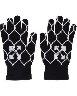Rękawiczki z mankietami z wzorem Off-white