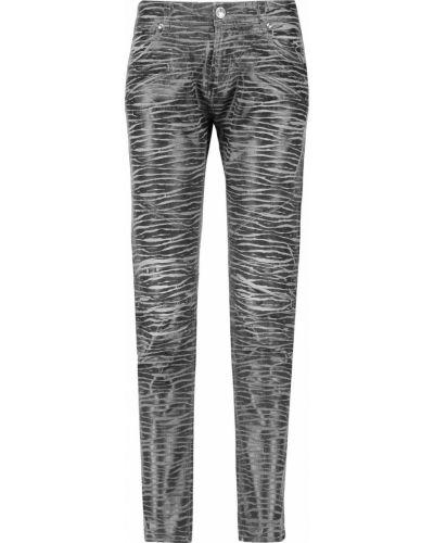 Джинсовые зауженные джинсы - серые Pierre Balmain