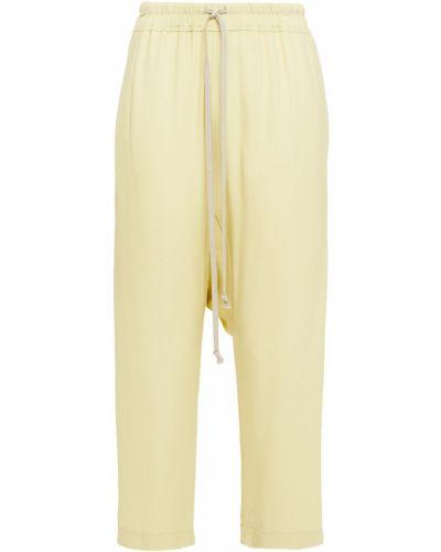 Żółte spodnie z wiskozy Rick Owens