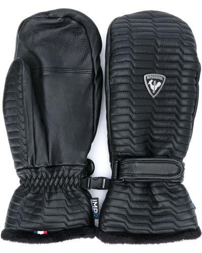 Z paskiem czarny rękawiczki z mankietami baranica Rossignol