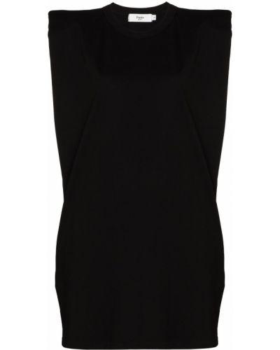 Черное платье без рукавов с вырезом Frankie Shop