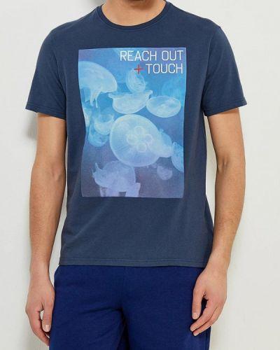 Синяя футболка для футбола United Colors Of Benetton