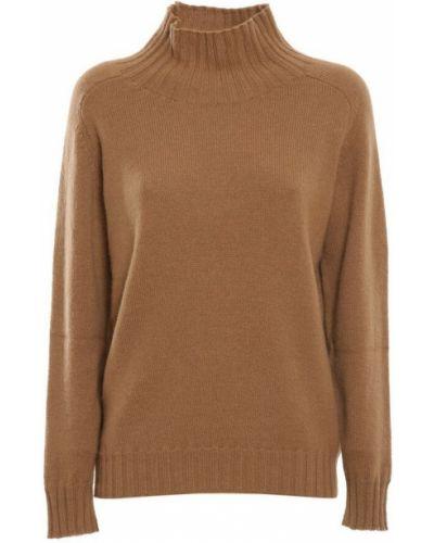 Brązowy sweter z angory Zanone