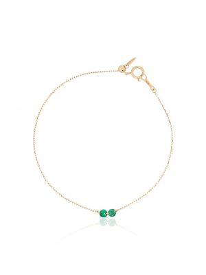 Zielony złoty łańcuch ze złota szmaragd Persée