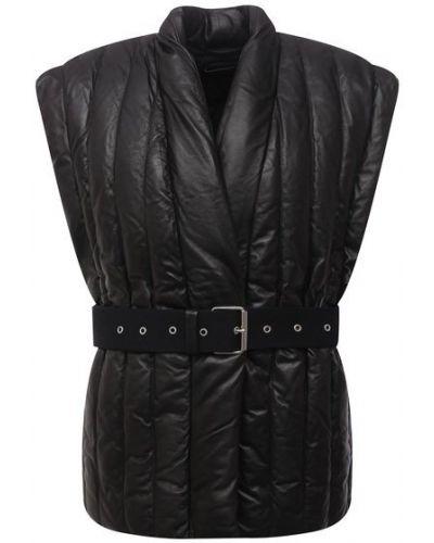 Кожаная жилетка - черная Isabel Marant