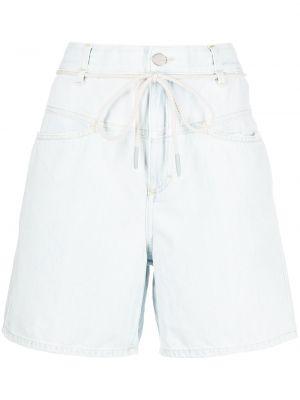 Синие хлопковые шорты с карманами с накладными карманами Closed