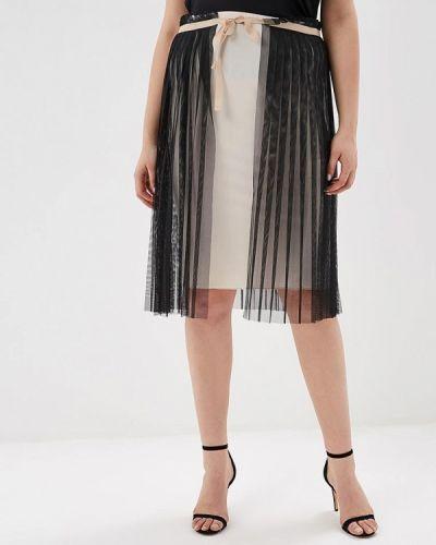 Плиссированная юбка итальянский бежевый Kitana By Rinascimento