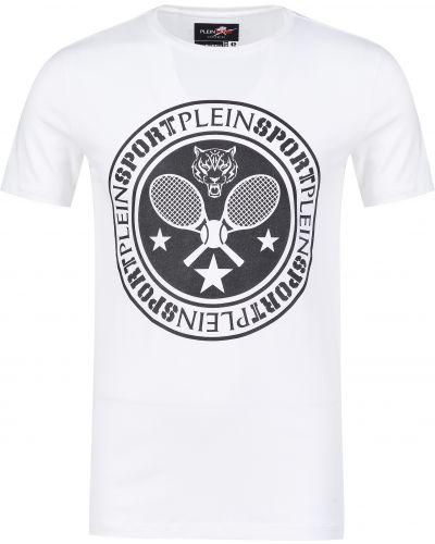 Хлопковая футболка - белая Plein Sport